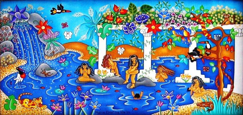 Huiles sur toile maria cristina haize une na ve - Les jardins de babylone ...
